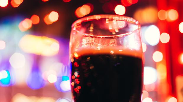 A dark beer during Christmas