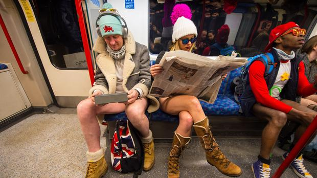No Trousers on the Tube day