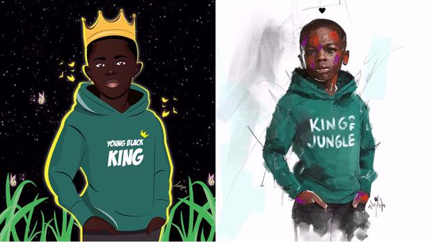 Two artists' alternative hoodie designs (@hippypotter/@thatlaundry/PA)