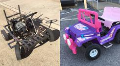 YouTube channel ThisDustIn's modified Barbie Jeep (Pictures courtesy of Dustin Sloan)