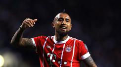 Arturo Vidal playing for Bayern Munich in the Champions League