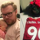 Liverpool supporter Kent and his daughter, YNWA Sofia