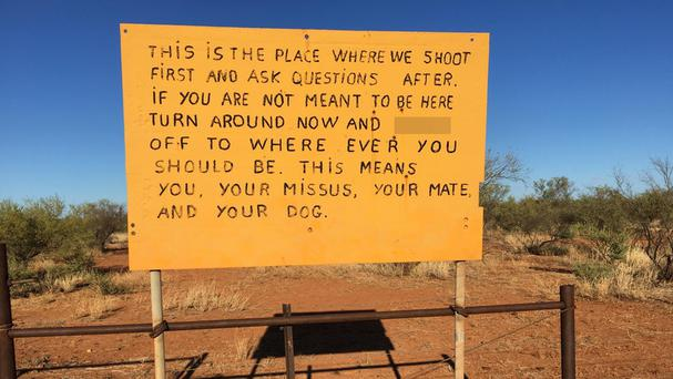 A sign spotted in Australia by Martin Dormer (Martin Dormer/PA)