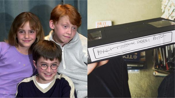 Harry Potter cast and the VHS