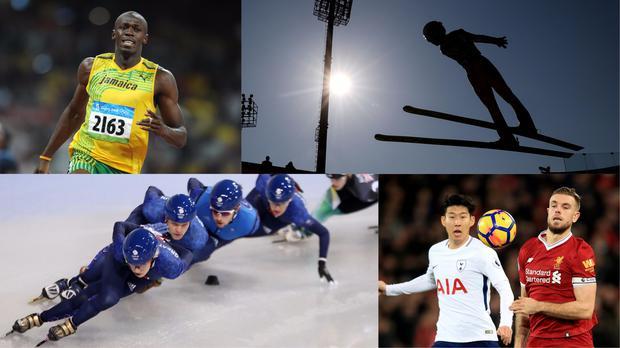 Athletes take part in their various sports