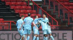 Sunderland celebrate their amazing equaliser