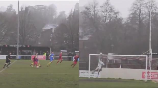 The goal being scored (@fc_video/PA Video)