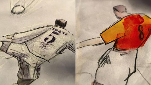 Illustrations from Art of Football's Football We Love You video
