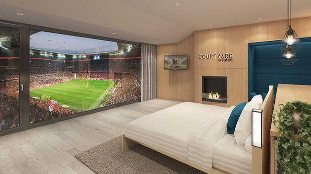 A concept image of the custom-built executive box that is to be built at Bayern Munich's Allianz Arena