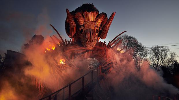 New Wicker Man ride at Alton Towers which combines wood and fire (Mikael Buck/Alton Towers)