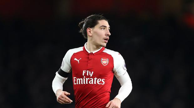 Arsenal's Hector Bellerin during a Premier League match at the Emirates Stadium, London