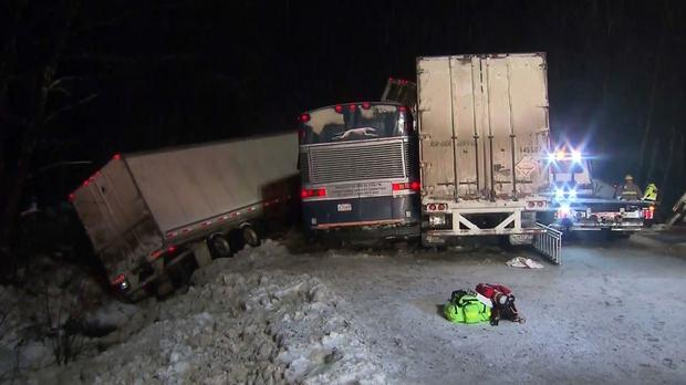 The pile-up involved six vehicles (CTV)
