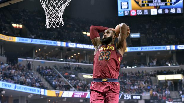 Cleveland Cavaliers forward LeBron James