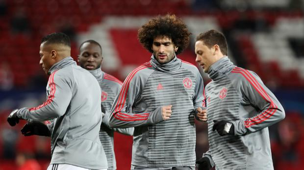 Manchester United's Marouane Fellaini ahead of a Champions League game against Sevilla
