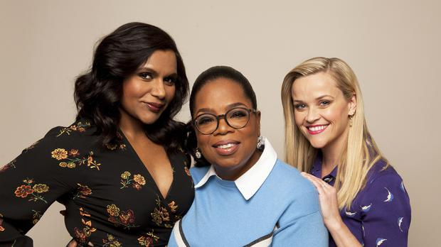 Mindy Kaling, Oprah Winfrey and Reese Witherspoon promote their film, 'A Wrinkle in Time'