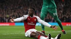 Arsenal's Danny Welbeck appeals for a penalty