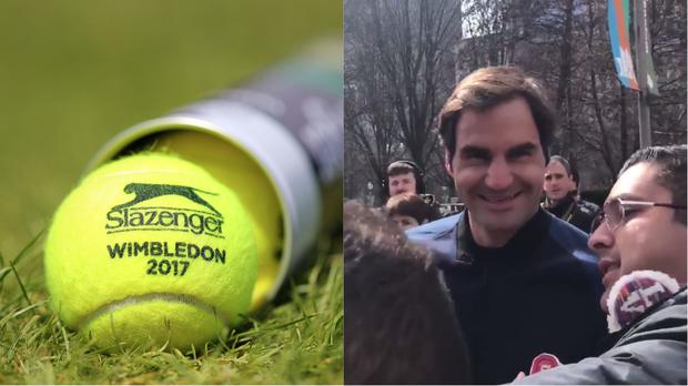Tennis balls and Federer