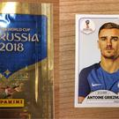 A packet of Panini 2018 World Cup stickers