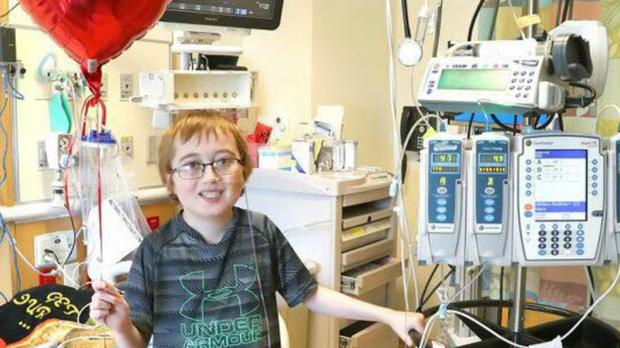 Austin Eggleston was placed on the heart transplant list four months ago (PA)