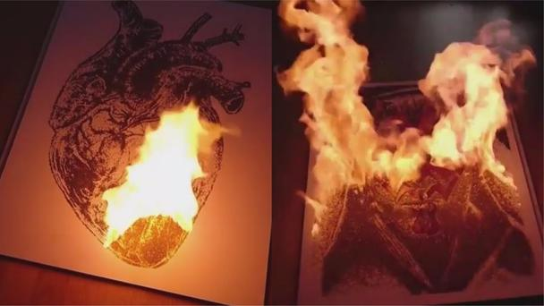Dino Tomic has gone viral with his fiery art