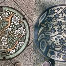Manhole covers from Nara and Tokyo (@JonathanHsy/Twitter)