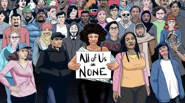 All of us or none comic artwork (Malik Shabazz)