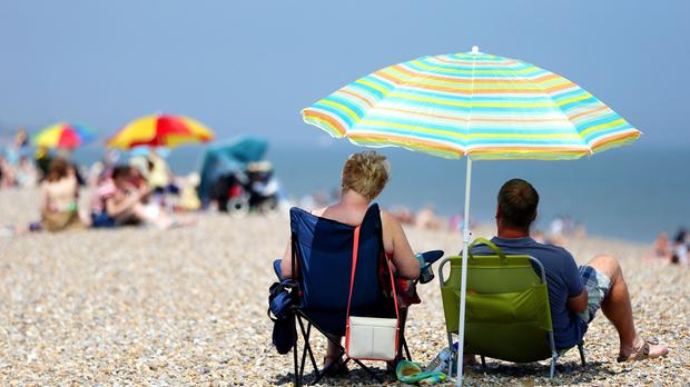 People are tweeting about the heatwave after a long, cold winter (Jonathan Brady/PA)