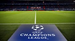 A general view of the Champions League logo