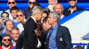 Arsene Wenger and Jose Mourinho square up