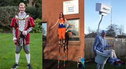 From landmarks to toilets, there are some brave runners in this year's London Marathon (Guinness World Records/PA)