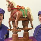 Chocolatiers at Cadbury World created a chocolate rocking horse for the new baby (Cadbury/PA)