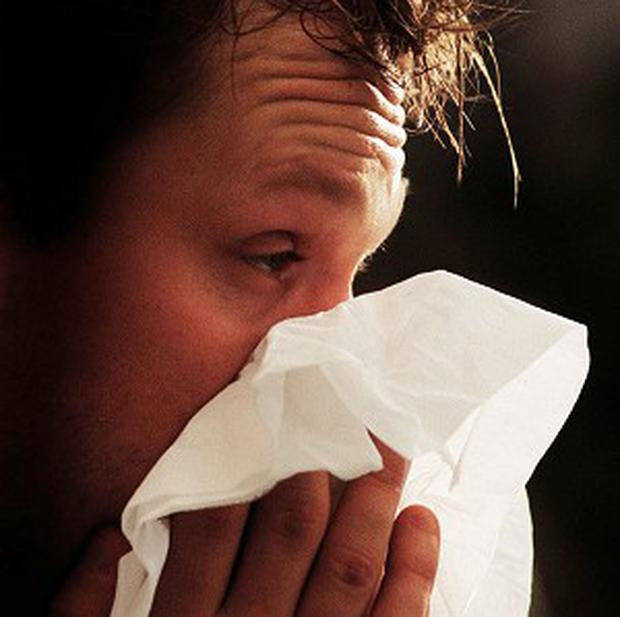 The stress of coping with an allergy may also explain the link. Stock Image