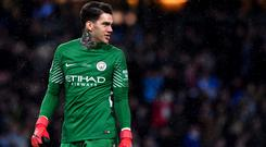 Manchester City goalkeeper Ederson is in his first season at the club (Anthony Devlin/PA)