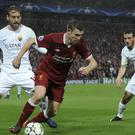 Liverpool's James Milner during a Champions League semi-final against Roma
