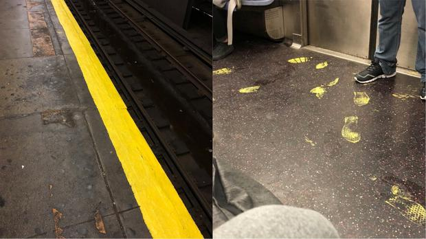 The subway with paint everywhere