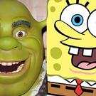 Shrek and Spongebob (Ian West/PA)