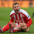 Footballer Phil Bardsley looking angry (Mike Egerton/PA)