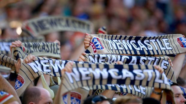 The goal inspired Newcastle Jets to a 2-1 victory and carried them to their first A-League Grand Final since 2008 (Jon Buckle/EMPICS Sport)