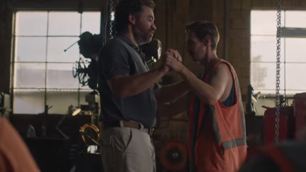 Two men dancing in a New Zealand beer advert (Speight's Brewery/YouTube)