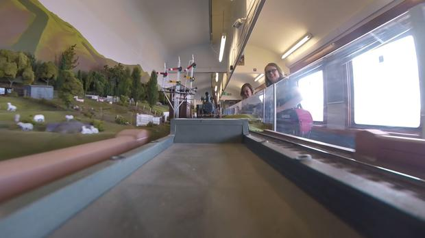 A view from on board a model railway