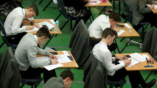Students taking an exam (PA)