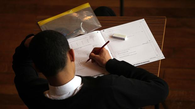 Pupil taking an exam