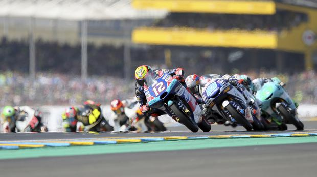 Moto3 riders at the France Grand Prix