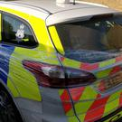 Pranksters wrapped a police car in cling film, and officers in Haverhill, Suffolk, said they were 'not impressed'. (@PoliceHaverhill/ PA)