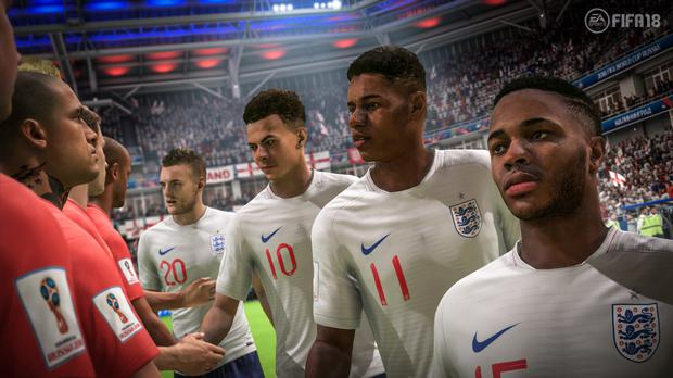 England are one of the teams gamers can play with in Fifa 18's World Cup update (EA Sports)