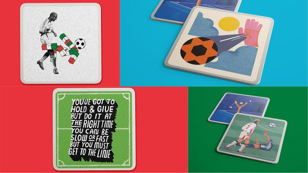 A selection of World Cup-inspired coasters – (Mason London, Bratislav Milenkovic and Radim Malinic, Biff Studio and Raj Dhunna)