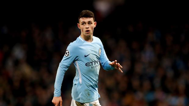 Phil Foden is talked about as a future England star. (Martin Rickett/PA)