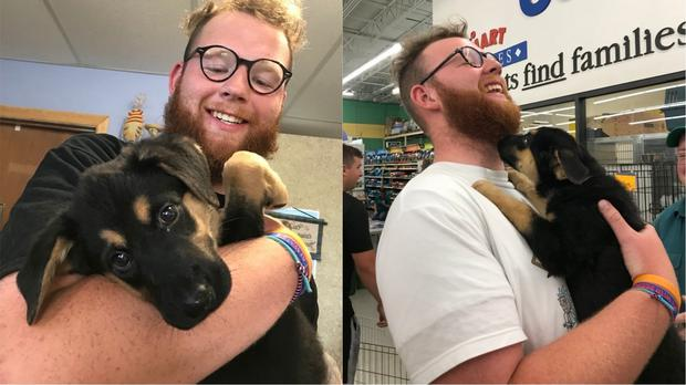 Ryan Sesselman with his new dog Milli – (Photos courtesy of Ryan Sesselman)