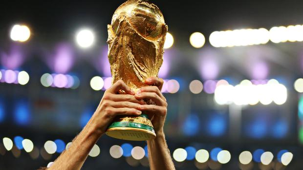 The World Cup trophy (Mike Egerton/PA).