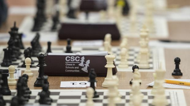 A chess game (Lauren Hurley/PA)